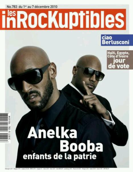 Nicolas Anelka et Booba en couverture des InRocKuptibles