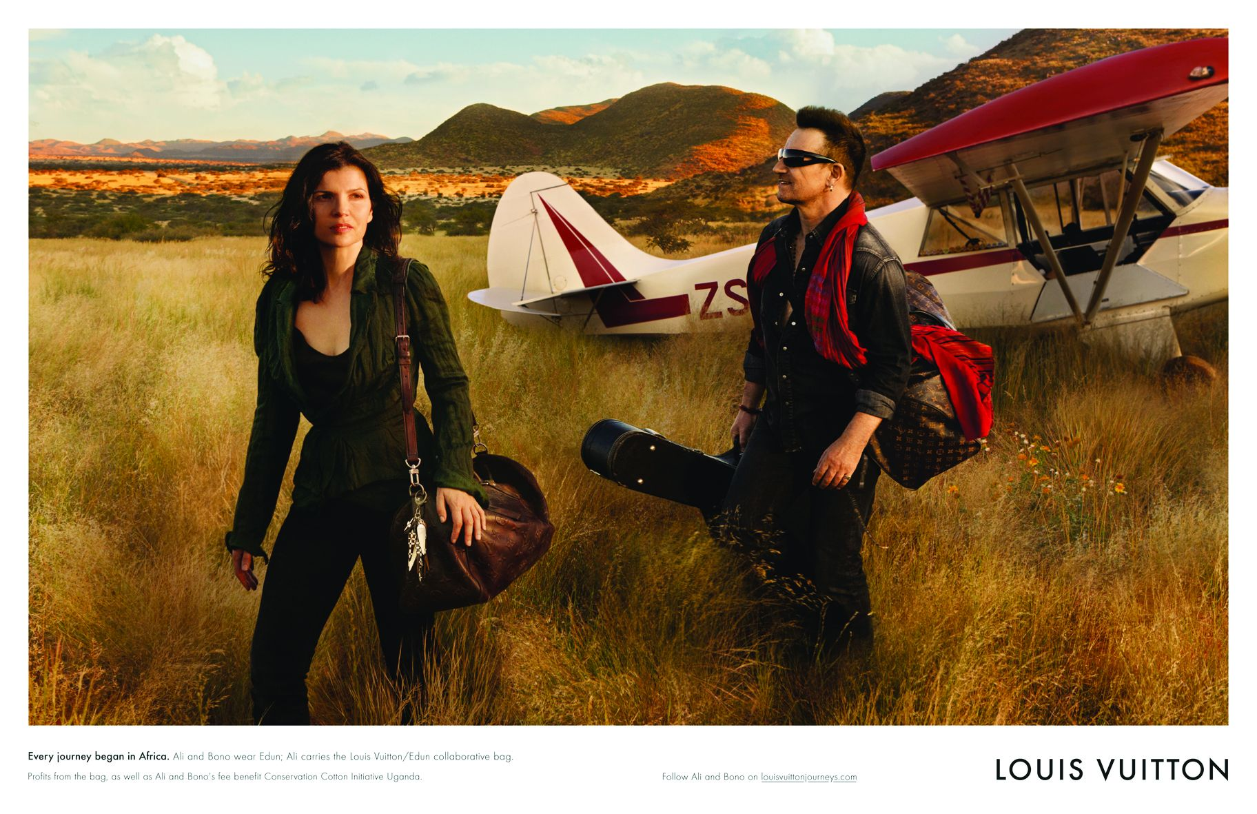 Campagne Louis Vuitton featuring Bono & Ali Hewson