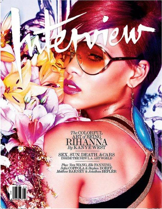 Rihanna pose pour Interview Magazine