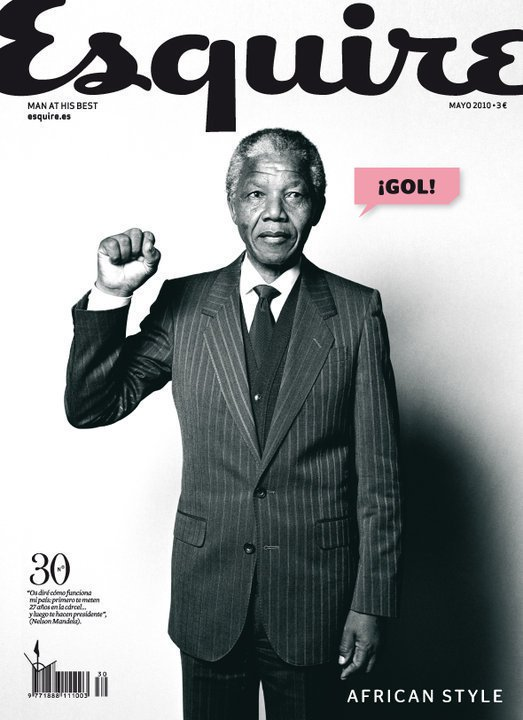 Nelson Mandela en couverture de Esquire