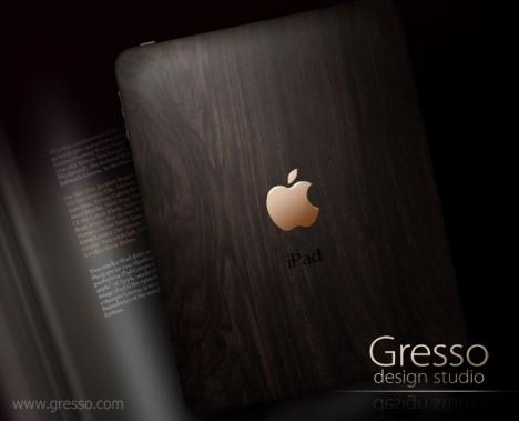 Un iPad en or et bois d'ébène tanzanien
