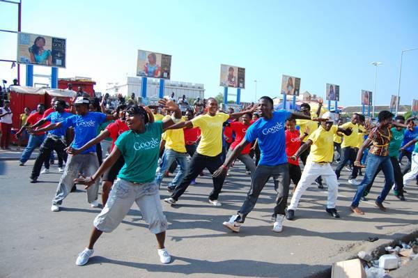 Ghana – Les flashmobs de Google Trader