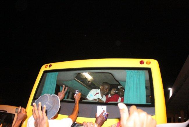Arrivée des Lions Indomptables à Dakar (Sénégal)