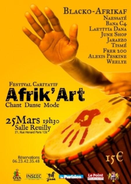 """Afrik'Art – OVA """"Objectif Vivre Autrement"""" par l'INSEEC le 25 mars"""