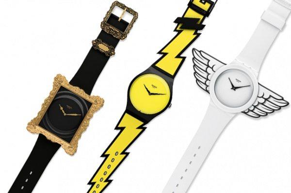 Une mini-collection de montres Swatch créée par Jeremy Scott