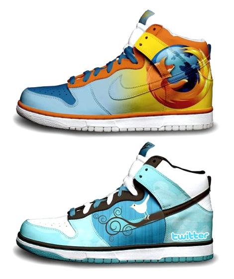Nike aux couleurs de Twitter et Firefox !