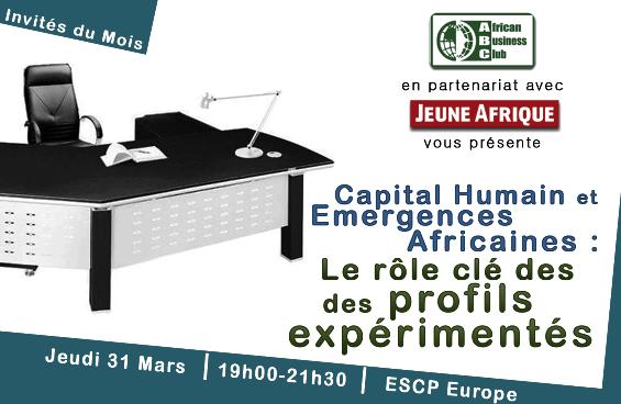 Conférence – Capital humain et émergences africaines : Le rôle des profils expérimentés