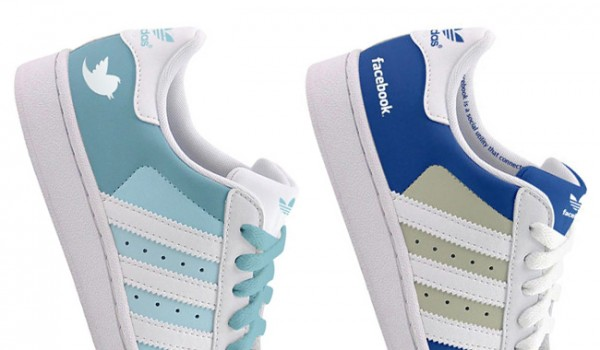 Adidas Superstars by Facebook & Twitter
