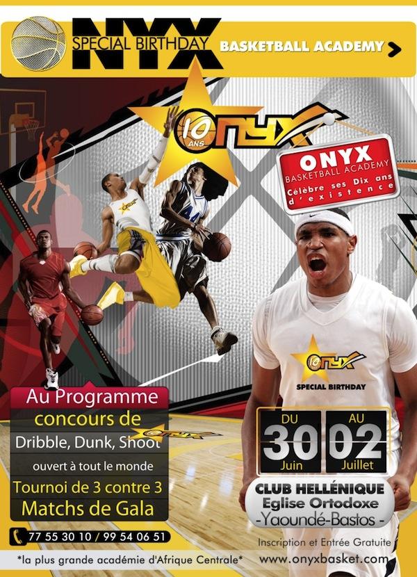 Du 30/06 au 02/07 : Onyx Basketball Academy fête ses 10 ans – Cameroun