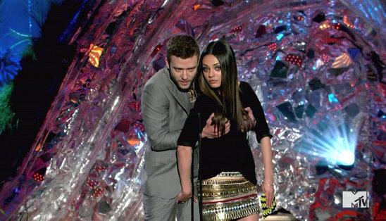 Justin Timberlake et Mila Kunis s'empoignent aux MTV Movie Awards