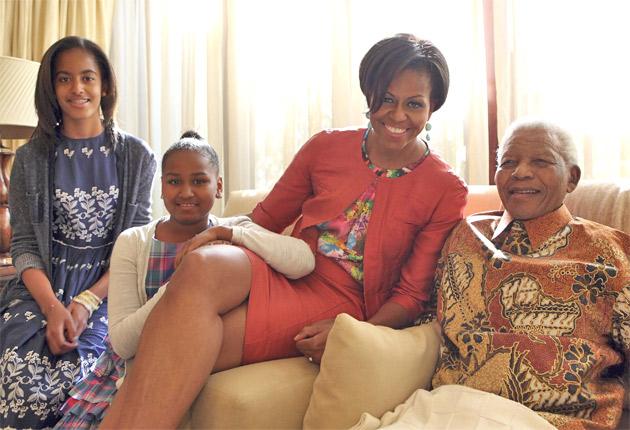 Michelle Obama rencontre Nelson Mandela