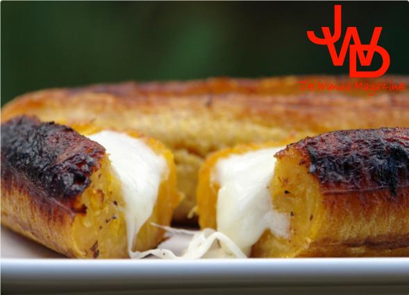 Recette : Plaintains mûrs au fromage