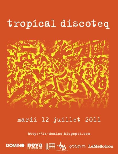 Soirée Tropical Discoteq # 14 – Le 12 juillet @ Favela Chic (Paris)