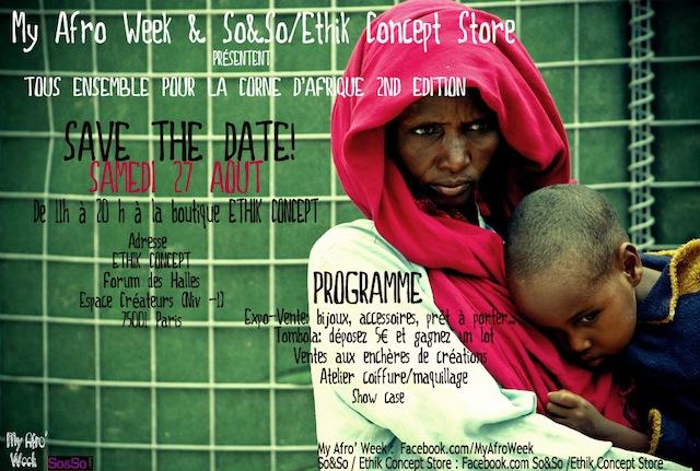 WandEvent : My Afro Week et So&So Ethik Concept Store se mobilisent pour la Somalie