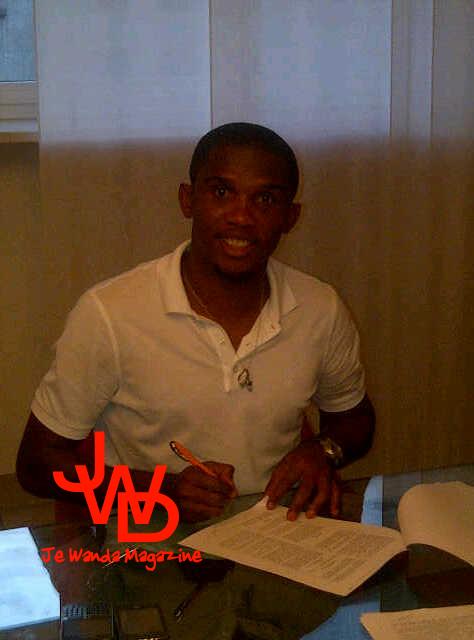 Exclusif : Samuel Eto'o signant à l'Anzhi Makhachkala (Russie)