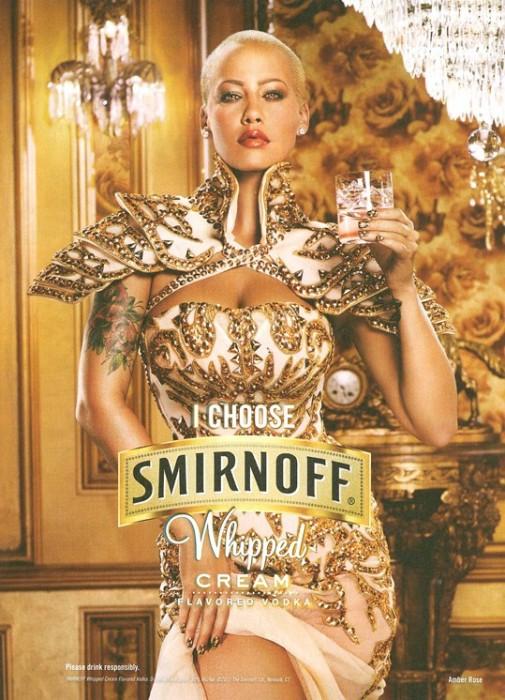 Amber Rose pour Smirnoff