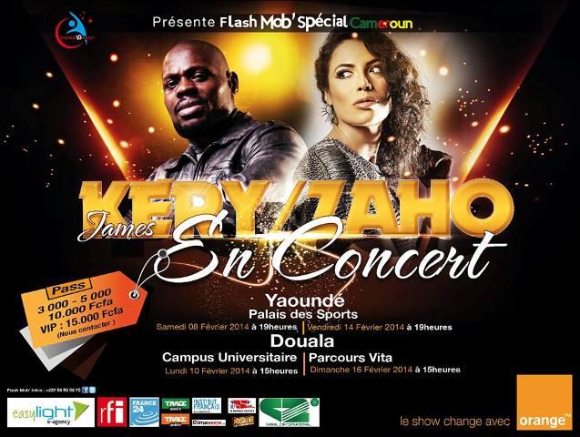 Concert : Kery James et Zaho au Cameroun