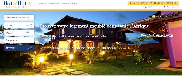 Site Internet : Flat n' Flat pour louer un logement meublé en Afrique