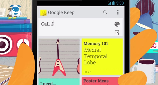 Tech : Google Keep pour Chrome