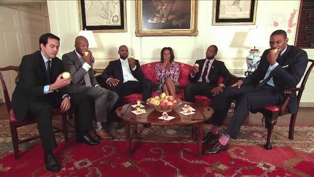 People : Le sketch de Michelle Obama avec les Miami Heats
