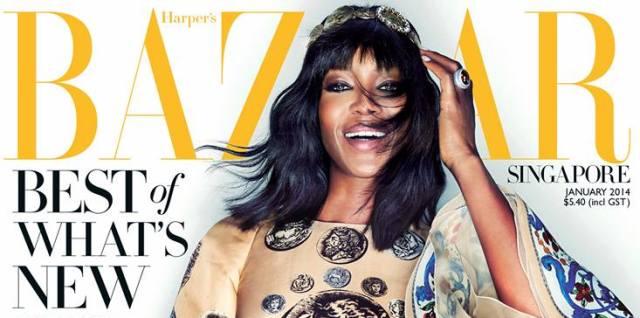 """People : Naomi Campbell pour le """"Harper's Bazaar Singapour"""""""