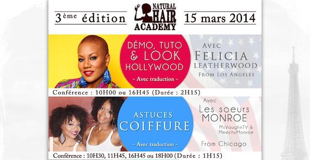 WandEvent : La Natural Hair Academy, le 15 mars 2014 à Paris