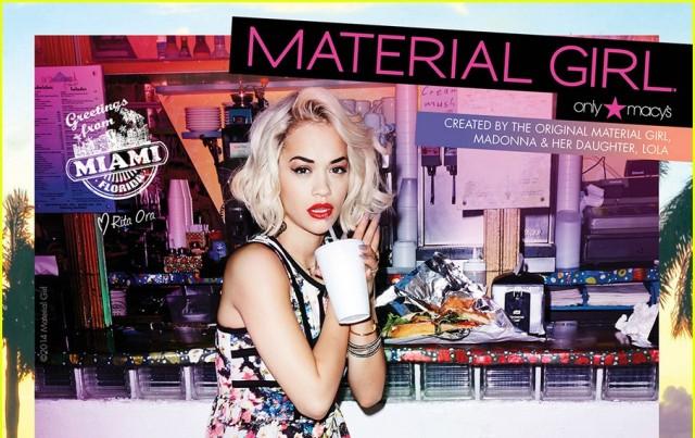 """People : Rita Ora, nouvelle égérie """"Material Girl"""""""