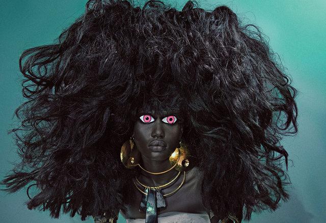 People : Ajak Deng en ndjoundjou kalaba pour W magazine