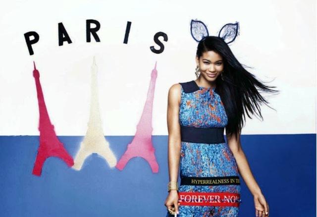 """People : Chanel Iman fait le tour du monde pour le magazine """"Cosmopolitan"""""""