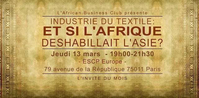 Wand'Event : Conférence – « Industrie textile – Quand l'Afrique déshabille l'Asie » – 13 mars 2014 à Paris