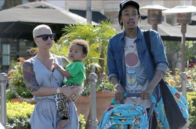 People : Après-midi détente pour Wiz Khalifa et Amber Rose !