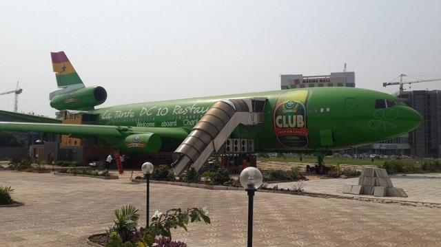 Lifestyle : Un restaurant au coeur d'un avion à Accra (Ghana)