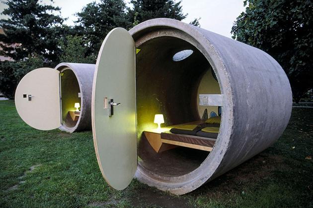 Architecture : Des canalisations qui servent de chambres !
