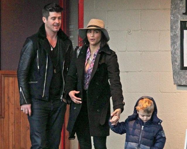 People : Robin Thicke et Paula Patton se retrouvent en famille