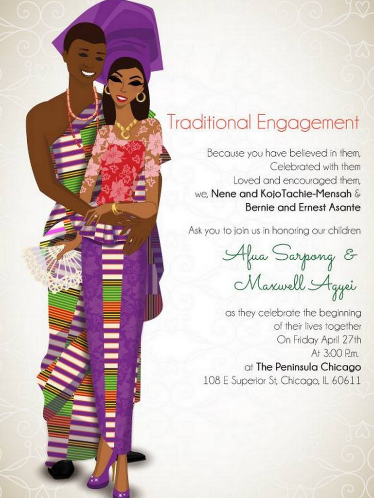 Faire Part Mariage Traditionnel Africain Mariage French