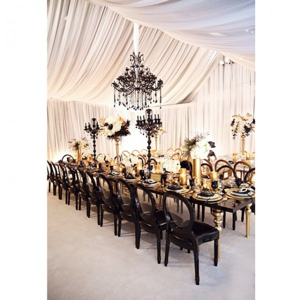 inspiration deco mariage noir blanc or gatsby jewanda 11. Black Bedroom Furniture Sets. Home Design Ideas