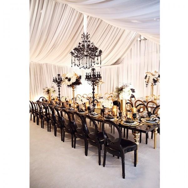 inspiration deco mariage noir blanc or gatsby jewanda 11 je wanda magazine. Black Bedroom Furniture Sets. Home Design Ideas