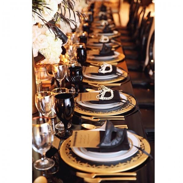 inspiration deco mariage noir blanc or gatsby jewanda 12 je wanda magazine. Black Bedroom Furniture Sets. Home Design Ideas