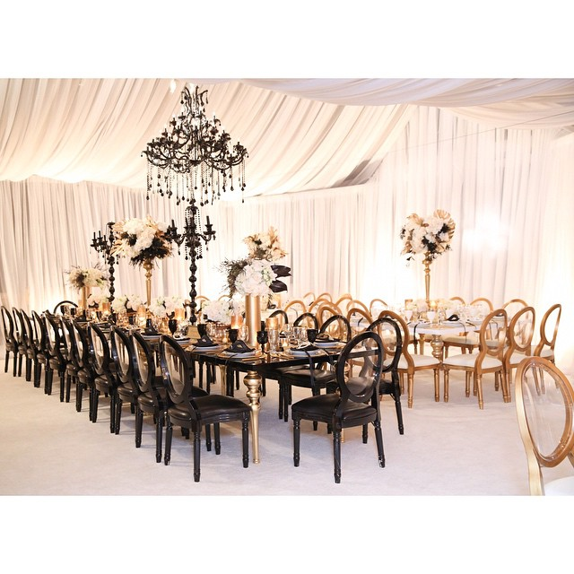 inspiration deco mariage noir blanc or gatsby jewanda 16. Black Bedroom Furniture Sets. Home Design Ideas