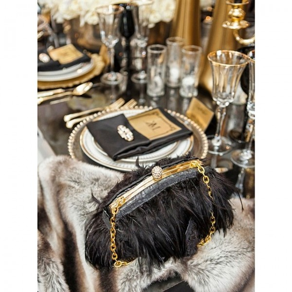 inspiration deco mariage noir blanc or gatsby jewanda 4 je wanda magazine. Black Bedroom Furniture Sets. Home Design Ideas