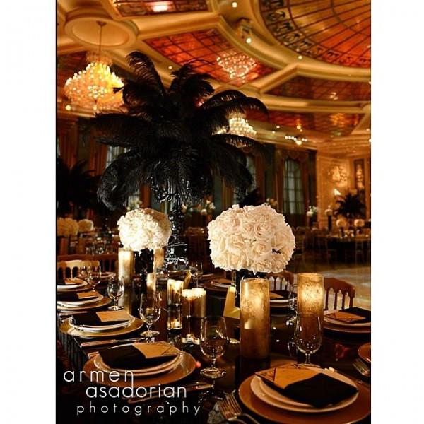 inspiration deco mariage noir blanc or gatsby jewanda 7 je wanda magazine. Black Bedroom Furniture Sets. Home Design Ideas