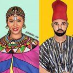 Art graphique : Les stars américaines en tenues traditionnelles africaines ...