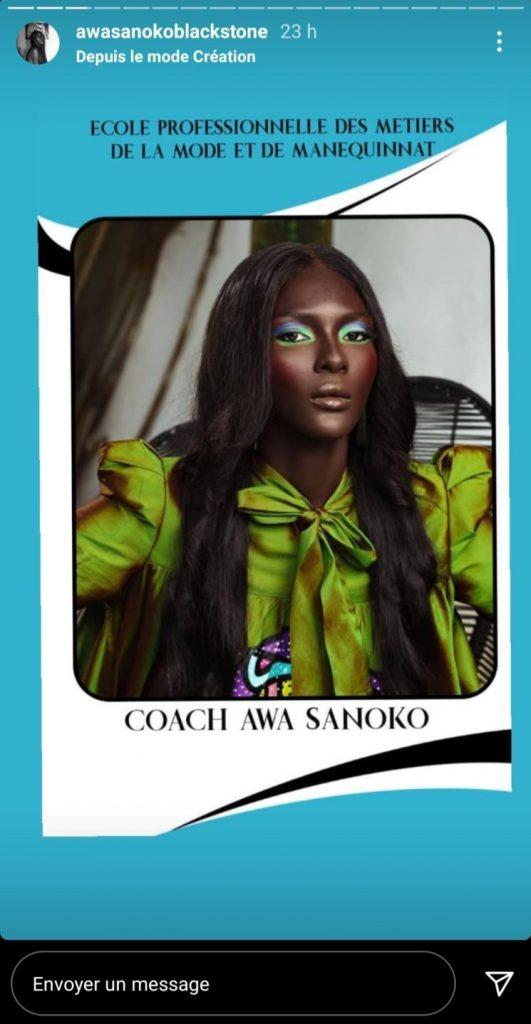 Awa Sanoko Nommée Coach À L'école Professionnelle Des Métiers De La Mode Et Du Mannequinat De Côte D'ivoire