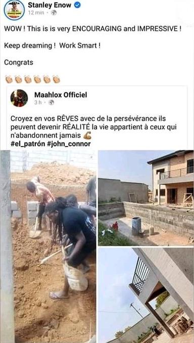 Maahlox Partage Les Photos De Sa Maison En Construction